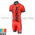 ชุดจักรยานแขนสั้น Rockracing 2015 สีส้มดำ