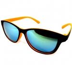 แว่นกันแดดแนวเรโทร สีส้ม เลนส์ปรอท