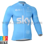 เสื้อปั่นจักรยาน Sky2014 สีฟ้า