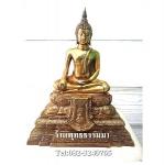 พระพุทธรูปปางมารวิชัย พิมพ์ใหญ่ เนื้อโลหะ หน้าตัก 5 นิ้ว สูง 11 นิ้ว ( รวมฐาน )