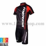 ชุดจักรยานแขนสั้น Merida 2015 สีดำแดง 2