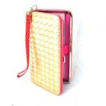 กระเป๋าสตางค์ ใส่มือถือได้ samsung ,iPhone หนังแก้วสีทอง