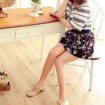 รองเท้าคัทชูผู้หญิงสีครีม หัวกลม ประดับโบว์ สายคาดลูกไม้รูปหัวใจ น่ารัก ส้นสูง4cm เข็มขัดรัดข้อเท้า แฟชั่นเกาหลี
