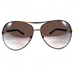 แว่นกันแดด แนว Oversize Decorative กรอบทองลายดำ เลนส์เทา