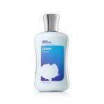 Bath & Body Works Simply Signature Linen Body Lotion 236 ml. โลชั่นบำรุงผิว กลิ่นหอมสะอาดๆ สดชื่น คล้ายกลิ่น Sea Island กับกลิ่น Cotton Blossom รุ่นคลาสสิคคะ