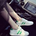 รองเท้าผ้าใบผู้หญิงสีเขียว แบบเชือก ทรงคลาสสิค ดูดี ฮิตตลอดกาล แฟชั่นเกาหลี