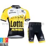 ชุดจักรยานแขนสั้น Bianchi Lotto 2015 สีเหลืองดำ