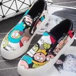 รองเท้าผ้าใบแฟชั่นผู้หญิงสีชมพู ลายการ์ตูน แบบสวม น่ารัก ดุดี ไม่ซ้ำใคร แฟชั่นเกาหลี
