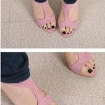 รองเท้าส้นสูงสีชมพู รัดส้น หนังกลับ เซ็กซี่ ส้นสูง7cm แฟชั่นเกาหลี