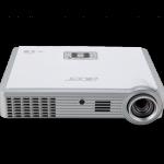 ACER K335 ความสว่าง(ANSI Lumens)1,000 ความละเอียด(พิกเซล)1280x800(WXGA) ค่า Contrast เท่ากับ10,000:1 น้ำหนัก1.3kg