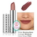 Clinique Long Last Lipstick #12 Blushing Nude 4g.ลิปสติกให้เนื้อสีเนียนนุ่ม ติดทนนาน มีให้เลือกทั้งสีโทนแมท และเป็นประกายเล็กน้อย ให้สีเด่นชัด ไม่ทำให้ริมฝีปากแห้ง มอบริมฝีปากที่นุ่ม ชุ่มชื่น ด้วย Vitamin E ช่วยรับมือกับอนุมูลอิสระ ขณะเดียวกัน Aloe Vera ใ