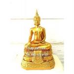 พระพุทธรูปปางมารวิชัย ( ปางสะดุ้งมาร ) สีทอง เนื้อเรซิ่น หน้าตัก 5นิ้ว สูง 10.5 นิ้ว (รวมฐาน)