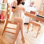 รองเท้าคัทชูผู้หญิงสีแอปริคอท ส้นเตี้ย หัวกลม ประดับโบว์ ทรงตุ๊กตา น่ารัก ส้นสูง4cm แฟชั่นเกาหลี