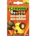 Crayola Cro Minion สีเทียนแท่งเล็ก กล่องละ 8 แท่ง ปลอดสารพิษ