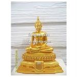พระพุทธรูปปางมารวิชัย ( ปางสะดุ้งมาร ) ศิลปะสุโขทัย เนื้อเรซิ่น หน้าตัก 5นิ้ว สูง 10.5 นิ้ว (รวมฐาน)