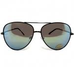 แว่นกันแดดแฟชั่น โอเวอร์ไซด์ คัลเลอร์ กรอบดำ เลนส์ปรอท