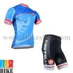 ชุดจักรยานแขนสั้น Castelli 2014 สีน้ำเงิน
