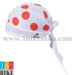 ผ้าโพกหัว Tour de France สีขาวแดง