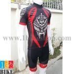ชุดจักรยานแขนสั้น Rock Racing 2016 สีดำแดง