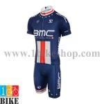 ชุดจักรยานแขนสั้น BMC 2015 สีน้ำเงิน