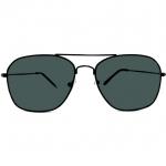 แว่นกันแดดแฟชั่น ทรง caravan กรอบดำ เลนส์ดำ 13.5,5.8