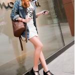 รองเท้าคัทชูผู้หญิงสีดำ ทรงoxford ฉลุลาย หัวกลม มีเข็มขัดรัดข้อเท้า ส้นสูง4cm แฟชั่นเกาหลี
