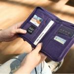 กระเป๋าสตางค์ใส่หนังสือเดินทาง พาสปอร์ต Passport Bag Travelus Purple สีม่วง