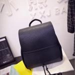 กระเป๋าเป้สีดำ กระเป๋าสะพายหลัง ทรงเรียบๆ เหมาะทุกโอกาส แฟชั่นเกาหลี