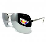 แว่นกันแดด Polarized ทรง Aviator Police กรอบสีเงิน เลนส์ปรอทสีเงิน สวยโคตร