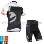 ชุดจักรยานแขนสั้น Cervilo 2015 สีดำขาว