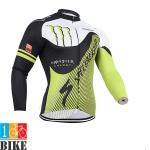 เสื้อปั่นจักรยาน Spe-Monter สีเขียวขาว