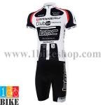ชุดจักรยานแขนสั้น BMC 2015 สีขาวดำ