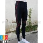 กางเกงปั่นจักรยานขายาว สีดำแดง