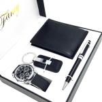 กล่องของวัญ กระเป๋าสตางค์, นาฬิกาข้อมือ, พวงกุญแจ, ปากกา BoxSet Fancy Wallet Watch