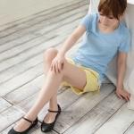 รองเท้าส้นแบนผู้หญิงสีดำ หุ้มส้น ทรงสุภาพ นักศึกษา หรือใส่ทำงาน มีเข็มขัดรัดข้อเท้า แฟชั่นเกาหลี