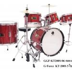 กลองชุดเด็ก G-Force 5 ใบ ขอบโครเมียม สีแก้วแดง (5B)