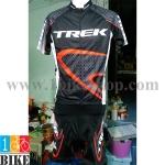 ชุดจักรยานแขนสั้น Trek 2015 สีดำขาวแดง