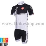 ชุดจักรยานแขนสั้น 3T 2014 สีขาวดำ