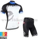 ชุดจักรยานแขนสั้น Cervilo 2015 สีขาวดำ