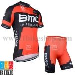 ชุดจักรยานแขนสั้น BMC 2014 สีแดง