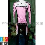 ชุดจักรยานแขนยาว Bianchi 2015 สีชมพูขาวดำ