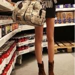 รองเท้าบู๊ตผู้หญิงสีน้ำตาล หนังเคลือบ หัวกลม ส้นแบน แฟชันเกาหลี ส้นสูง1cm