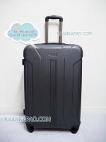 กระเป๋าเดินทาง fiber abs สีเทาเข้ม ไซส์ 28 นิ้ว ยี่ห้อPolonaise ดีไซส์สวย