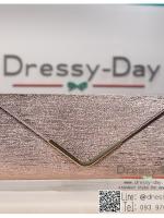 กระเป๋าออกงาน TE044: กระเป๋าออกงานพร้อมส่ง สีแชมเปญ ใบใหญ่ สวยเรียบหรู ราคาถูกกว่าห้าง ถือออกงาน หรือ สะพายออกงาน สวยเหมือนดารา