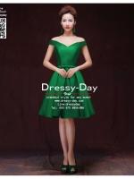 รหัส ชุดราตรีสั้น :AK059 ชุดเดรสออกงาน ชุดราตรีสั้น ชุดแซกสีเขียว โชว์ไหล่สวยๆ แบบเก๋ด้วยผ้าไหมจีน เหมาะใส่ออกงานแต่งงาน งานกลางวัน กลางคืน ชุดเพื่อนเจ้าสาว