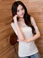 เสื้อลายลูกไม้-สีขาว-1410