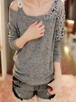 1161-เสื้อไหมพรมสีเทา