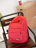 กระเป๋าเป้แฟชั่นสีแดง สะพายหลัง แบบซิป วัสดุไนลอนคุณภาพสูง ซับในโพลีเอสเตอร์ ใช้ได้ทั้งผู้หญิงผู้ชาย แฟชั่นเกาหลี สำเนา