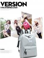 กระเป๋าเป้แฟชั่น แพ็คคู่ แถมกระเป๋าถือขนาดเล็ก ลายกวาง แบบซิป วัสดุผ้าใบคุณภาพสูง วัยรุ่นชอบ นักเรียนนักศึกษาชอบ แฟชั่นเกาหลี