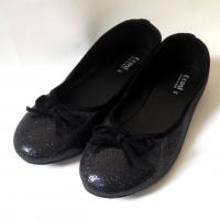 Bigsize41 คัทชูส้นแบน รองเท้าไซส์ใหญ่บัลเล่ต์สีดำ